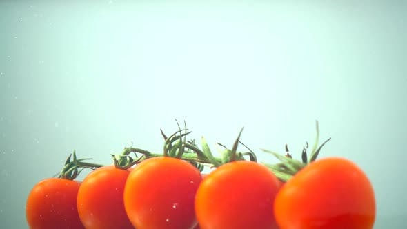 Thumbnail for The Falling Cherry Tomatoes in Water 17