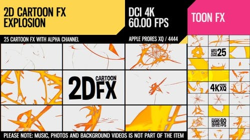 2D Cartoon FX (Explosion Set 11)