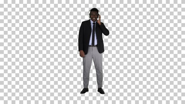 Thumbnail for Handsome Afro American businessman in, Alpha Channel