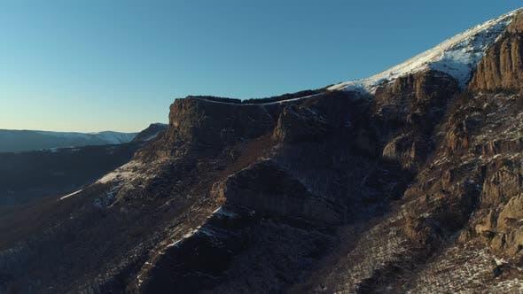 Thumbnail for Flying over breathtaking rock