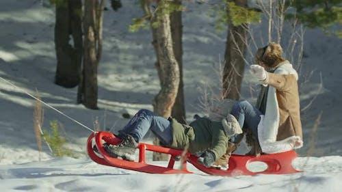Joyous Kid in Winter