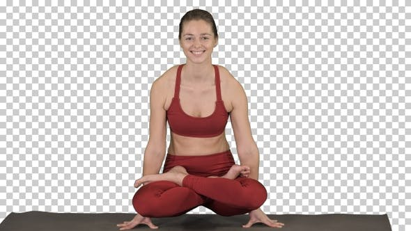 Thumbnail for Schöne junge Frau tun Yoga oder Pilates Übung Arm