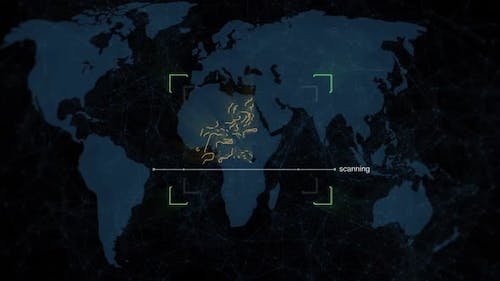 Biometric Monitor with Data Processing and Recording on the World Map
