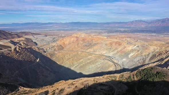 Thumbnail for Aerial view of Kennecott Bingham Canyon Copper Mine in Utah