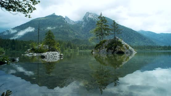 Thumbnail for Calm Evening on Hintersee Lake, Ramsau, Berchtesgaden, Bavaria, Germany, Europe