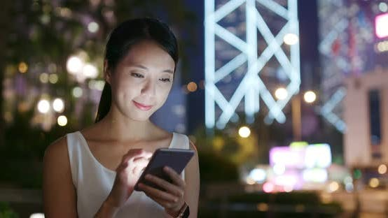 Thumbnail for Woman Use of Mobile Phone for Online
