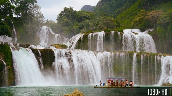 Thumbnail for Ban Gioc Waterfall In Northern Vietnam With Tour Boat