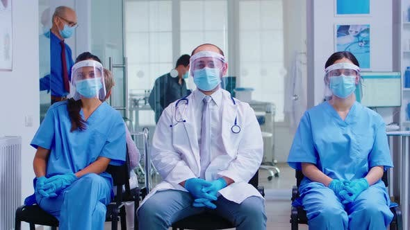 Thumbnail for Team of Medical Staff with Protection Mask and Visor