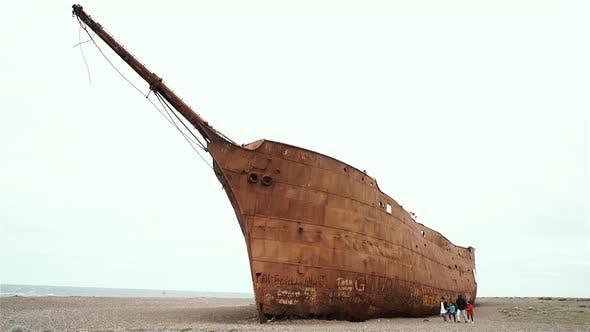 Rusted Shipwreck.
