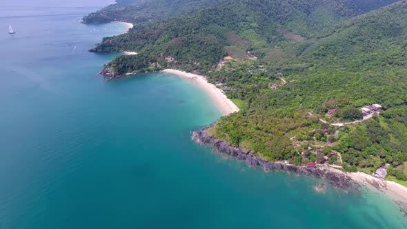 Thumbnail for Aerial Video of Beach, Corals and Sea on Island