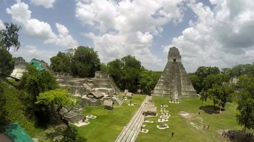 Tikal Urban Mayan Civilization Ruins in Guatemala