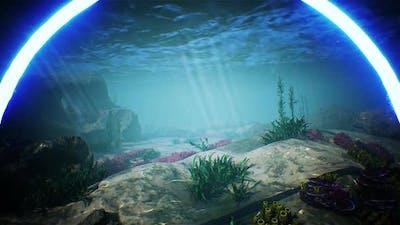 Blue Circle LED Light Underwater Aquarium