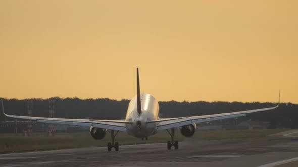 Thumbnail for Airplane Approaching and Landing at the Early Morning