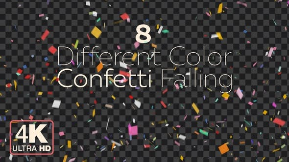 Thumbnail for Confetti Falling 4K