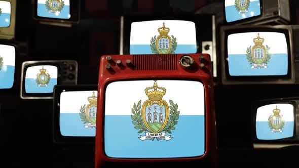Thumbnail for Flag of San Marino and Retro TV Sets.