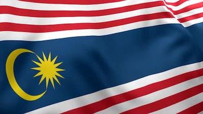 Kuala Lumpur City Flag (Malaysia) - 4K