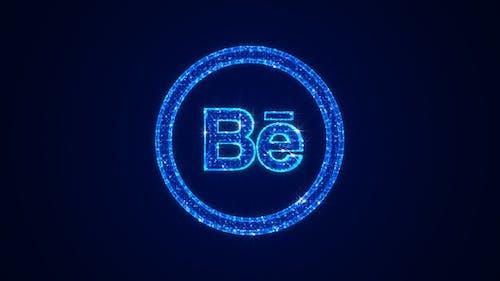 Social Media Behance Icon Hologram