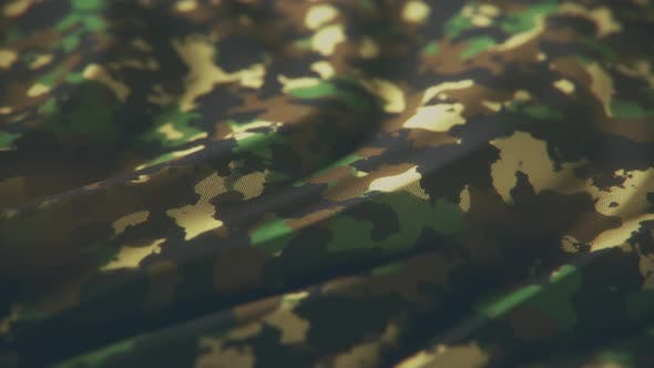 Animation on Military Camouflage Fabric