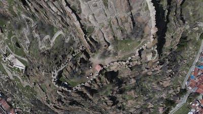 Castle Ruins Aerial Drone