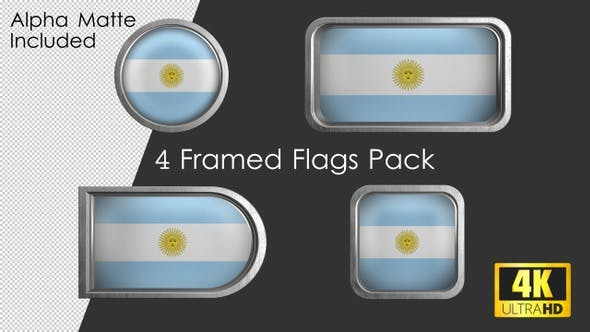 Thumbnail for Framed Argentina Flag Pack