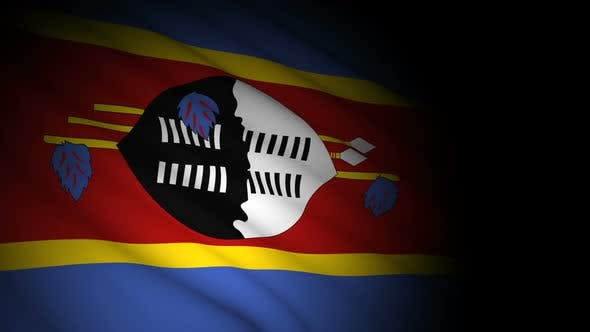 Thumbnail for Swaziland Flag Blowing in Wind