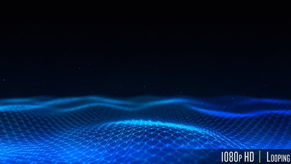Dark Low Poly Network Connection with Lines and Dots Background