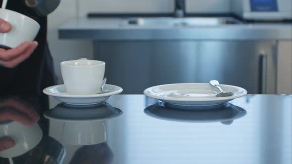 Thumbnail for Two Coffee Cup Prepared on the Desk
