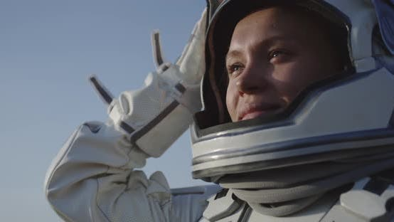 Thumbnail for Astronaut Opening Helmet on Mars