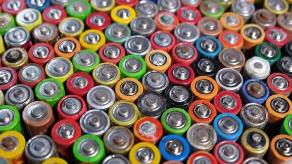 Harmful effects of batteries on the nature of the planet Earth.