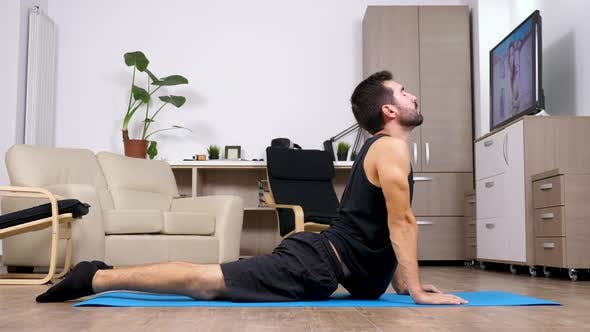 Thumbnail for Young Fit Man Practicing Yoga and Doing Different Poses