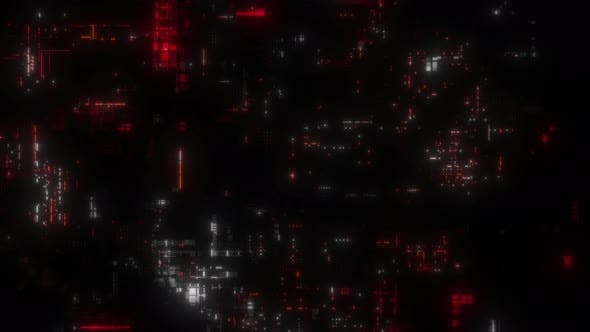 Chaotic Random Abstract Greeble Technology Background Loop