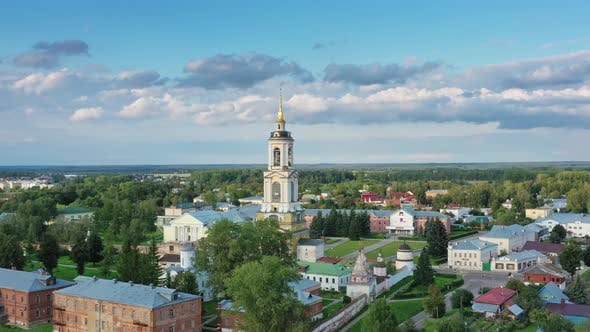 Thumbnail for Aerial View on Rizopolozhensky Monastery Suzdal