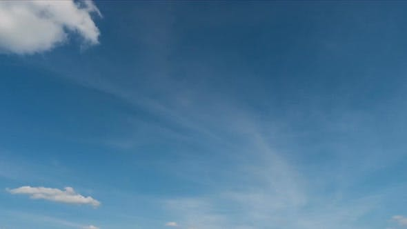 Thumbnail for White Clouds On A Blue Sky Timelapse