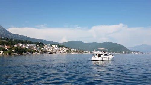 Kumbor City View in Herceg Novi Municipality, Montenegro