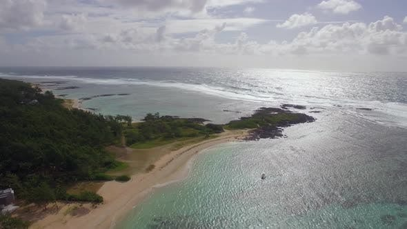 Thumbnail for Mauritius Coast and Indian Ocean, Aerial View