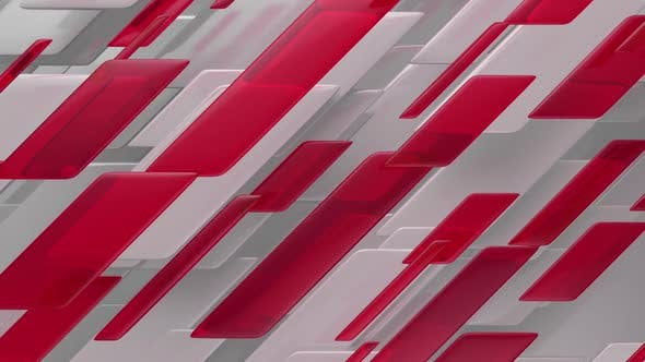 Thumbnail for Abstract Lines and Red Glass Broadcast News Background Loop