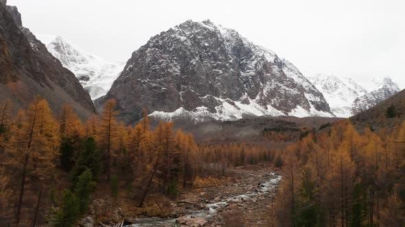 Mount Karatash Aktru Valley Autumn