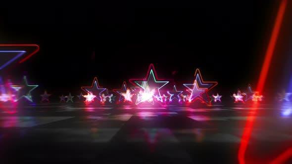 Star symbol abstract loopable