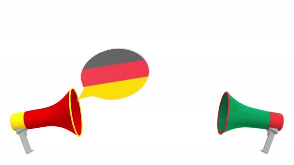 Thumbnail for Speech Bubbles with Flags of South Africa and Germany