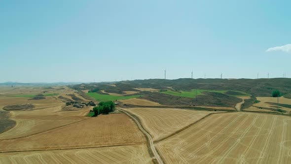 Flying Over The Fields Of Spain
