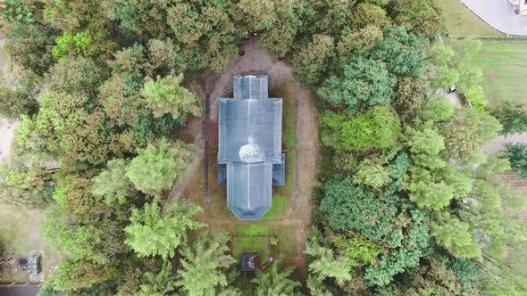 Thumbnail for Fly on Drone, Aerial View on Wooden Church