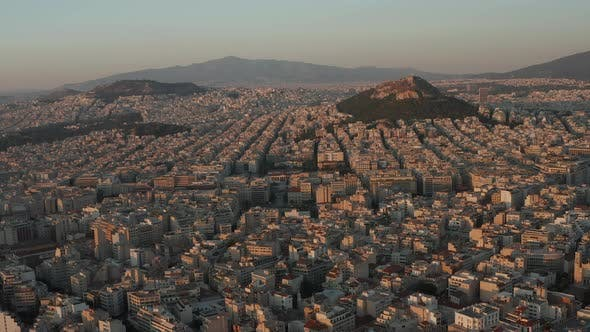 Thumbnail for Slow Establishing Dolly Aerial Towards Mount Lycabettus in Athens, Greece