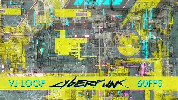 Cyberpunk Jaune Vj Boucle
