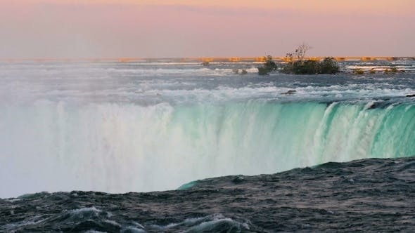 Thumbnail for Part of the Horseshoe Falls at Niagara Falls.