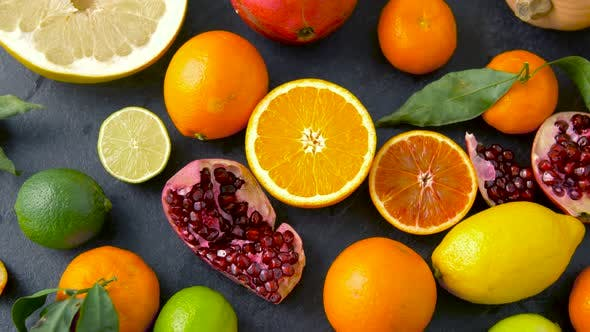 Thumbnail for Close Up of Citrus Fruits on Stone Table 42