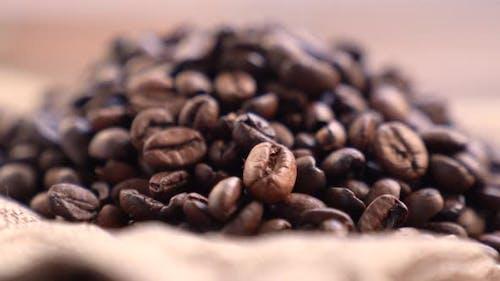 Fragrant Black Coffee Grains