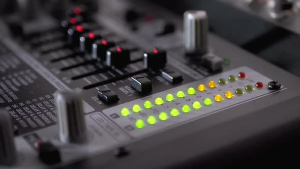 Thumbnail for LED Indicator Level Signal on the Sound Mixing Console or Dj Console