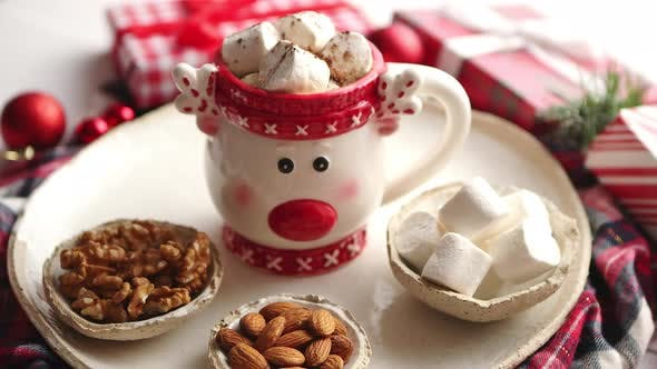 Thumbnail for Delicious Homemade Christmas Hot Chocolate or Cocoa with Marshmellows