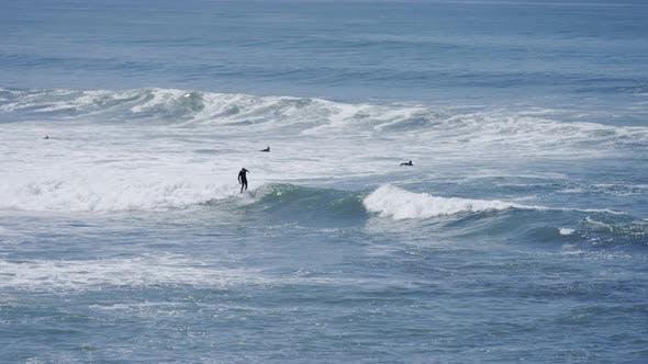 Surfer auf dem Meer