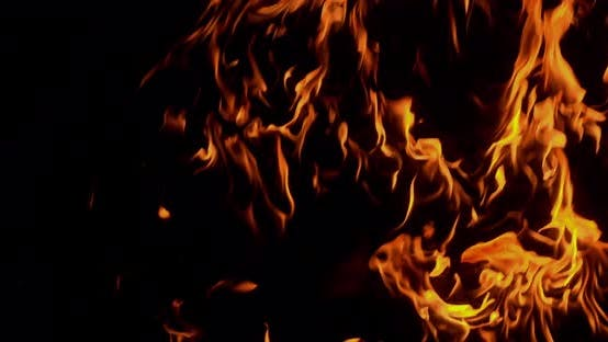 Thumbnail for Fire Wall Burning Slow Motion